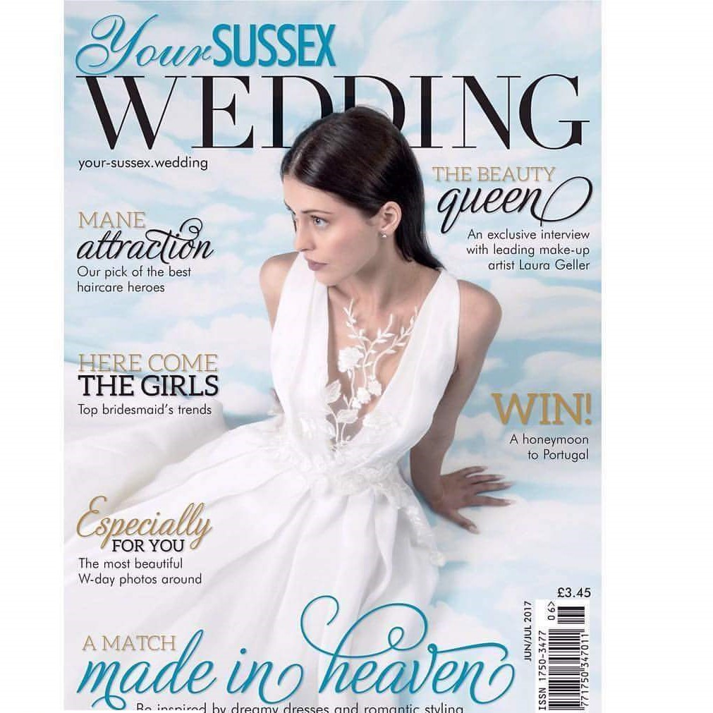 nuestro vestido de novia riku en portada en la revista your sussex ...