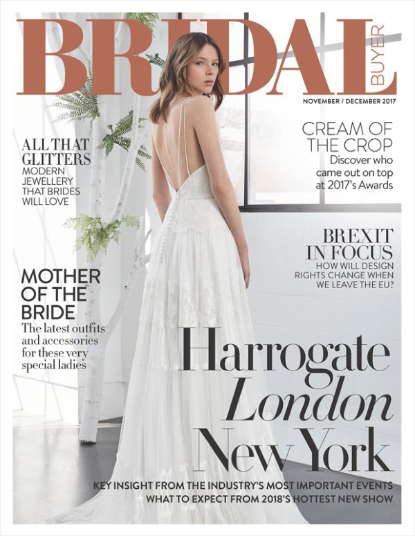 inmaculada garcia on the cover of Bridal Buyer