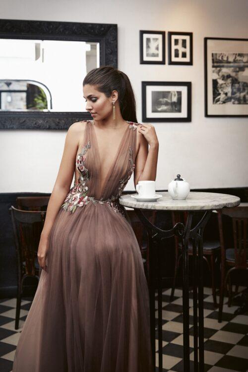 inmaculada garcia barcelona vestido de fiesta Bidia