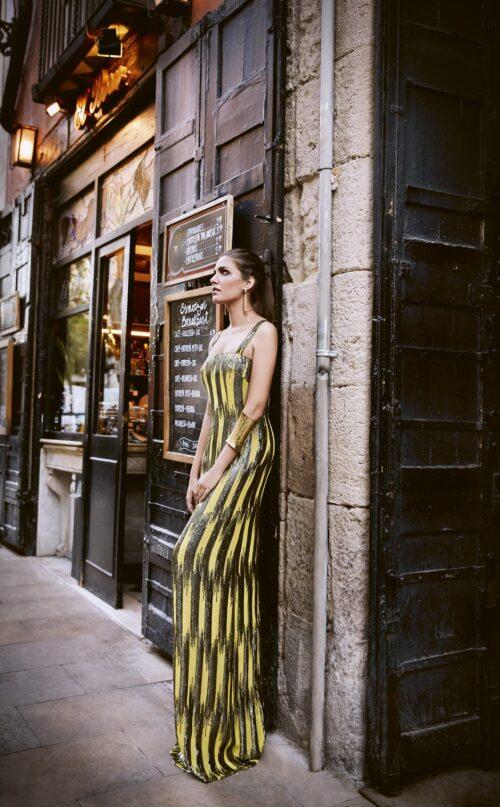 inmaculada garcia barcelona vestido de fiesta Salma