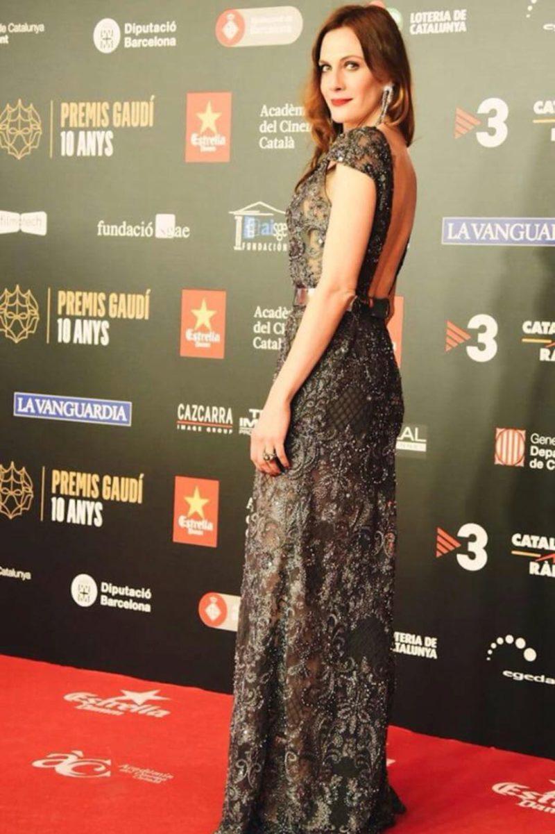 inmaculada garcia vestido de fiesta marta para los premios gaudi 2018
