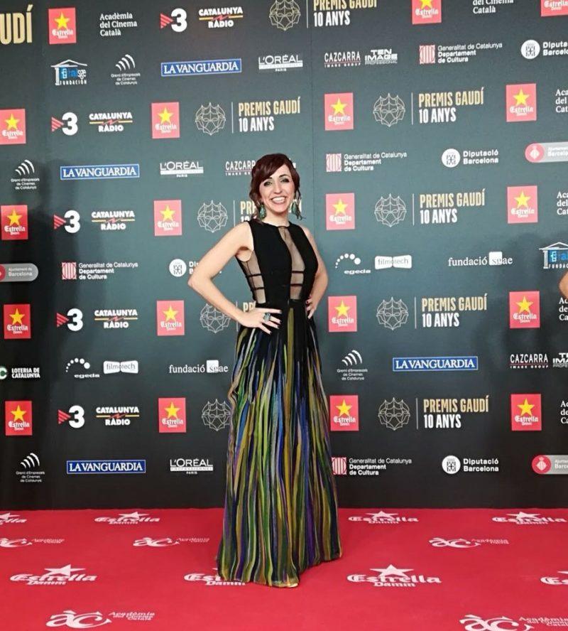 Ana Bertran vestido de Inmaculada Garcia con el modelo de fiesta Prisca