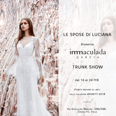 Inmaculada Garcia vestidos de novia en trunk show Le spose di luciana