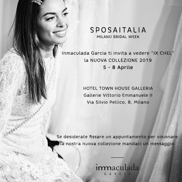 Inmaculada Garcia showing new collection 2019 at Milano