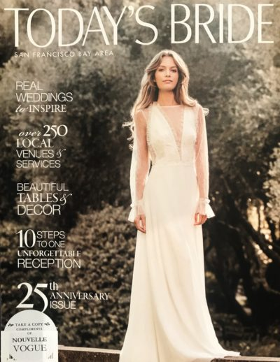 inmaculada garcia barcelona on the cover at Today's Bride magazine