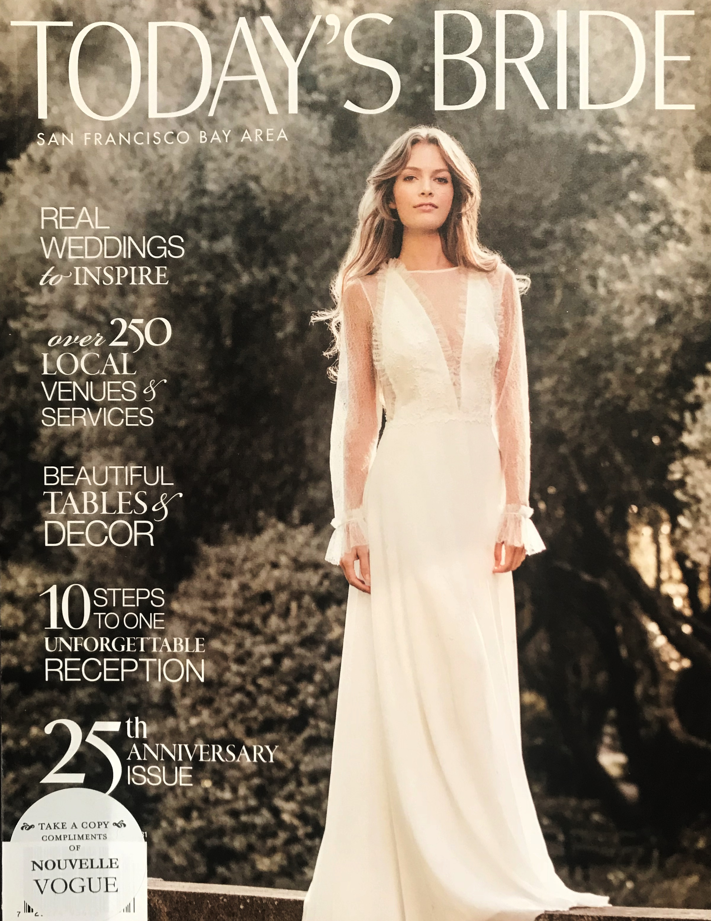 43762c21777 CLORITA WEDDING DRESS ON THE FRONT COVER OF TODAY S BRIDE MAGAZINE ...