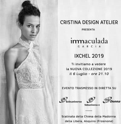 Atelier Cristina Design organizes a fashion show with Inmaculada García in Italia